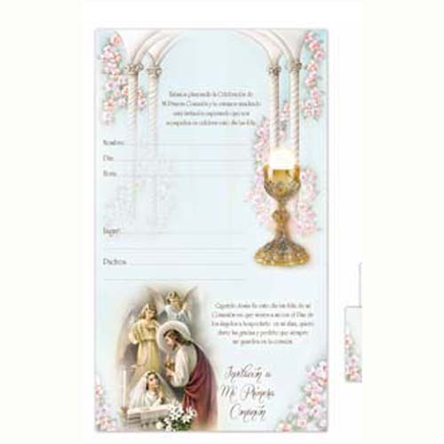 Communion Invitations For Girls DJ Catholic Gifts